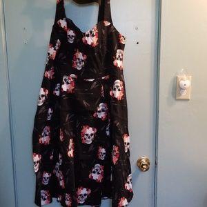 Torrid Skull Rose Dress